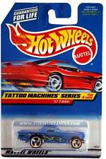 1998 Hot Wheels #685 Tattoo Machine Series #1 '57 T-Bird (red car card)