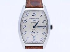 Longines Evidenza Herren Armband Uhr Automatic Edelstahl Lederband