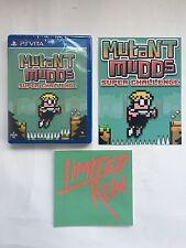 Sony PS Vita Limited Run #55 LR-V24 Mutant Mudds Deluxe + Postcard & Sticker