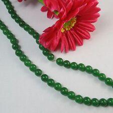 2 Strang  grün Jade 10mm Kugeln Perlen  für basteln