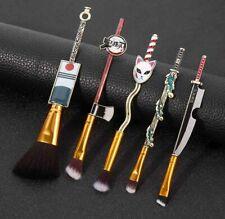 5Pcs/set Demon Slayer Makeup Brush Set Cosmetic Powder Brushes