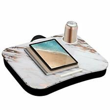 LapGear Cup Holder Lap Desk with Device Ledge - Rose Gold Marble - Fits Up to...