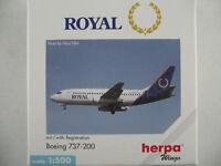 """Herpa 505727 Boeing 737-200 """"ROYAL AIRLINES"""" 1:500 NEU/OVP"""