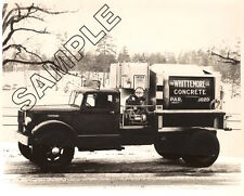 1940s C Model AUTOCAR JAEGER Mixer - WHITTEMORE CO, Roslindale,MA 8x10 B&W Photo