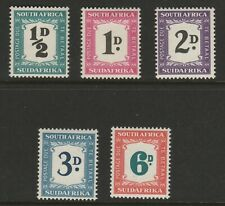 South Africa 1948-49 George VI Postage due set SG D34-D38 Mint.