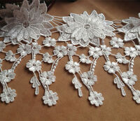 "Off White Bridal Lace Trim 6.5"" Guipure Trim Ribbon Wedding Floral Sewing Edging"