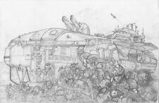 Charles Walton original art from Rifts Sovietski - Storm Swell submarine