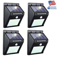 4X Outdoor 20 LED Solar Light Power PIR Motion Sensor Garden Security Wall Lamp