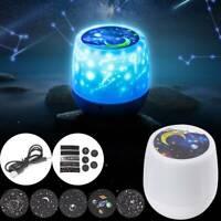 LED Night Light Projector Star Moon Sky Baby Night Mood Lamp Christmas UK