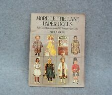 """More Lettie Lane Paper Dolls Book Full Color Sheila Young Dover 1981 27 Doll 12"""""""
