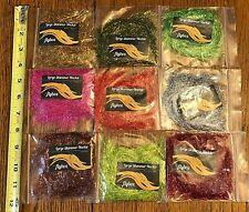 9 Packs Large Shimmer Hackle, Fly Tying, Nr