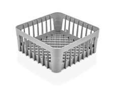 TemoWare Commercial Dishwasher Open Basket - Glass Holder 350x350x150mm