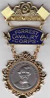 Nathan Bedford Forrest Cavalry Corps CSA Confederate Civil War Medal