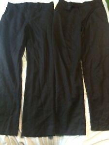 Boys Black School Trousers 15-16 Years 2 Pairs George Uniform Clothes