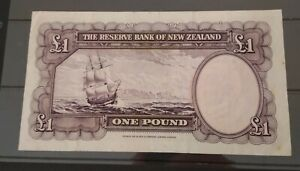 New Zealand 1956 - 67 £1 banknote Fleming signed, nice no reserve
