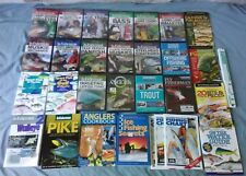 Father's Day Fishing lot 16 Fishing DVDs 9 Books 3 Fishing Charts ID Guide ruler