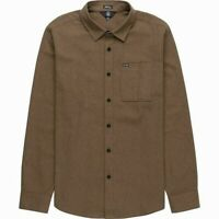 Volcom Mens Shirt Brown Size 2XL Modern Fit Chest-Pocket Button-Front $60 033