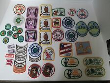 Lot 45 Vintage GIRL SCOUT 1970's - 80's PATCHES Cookie Fun Read It Eagle Award