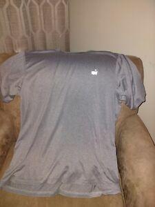 Masters Golf Shirt Men size L Tech Performance Short Sleeve Golfing Active Tee