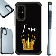 FUSION Case For Samsung Note 20 10 S20 Hybrid Phone Cover I AM QUEEN CROWN