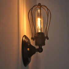 Aluminium antique style wall lights ebay art deco wall lamp vintage industrial bird cage wall light antique black sconce mozeypictures Images