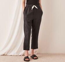 NWT Assembly Label Black Linen Pants - Size 10 - Trouser Bottoms Drawstring