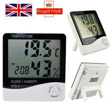 Indoor LCD Digital Hygrometer Thermometer Temperature Humidity Meter Clock New