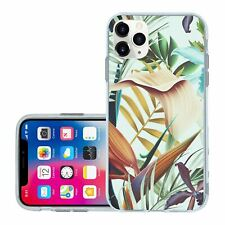 For iPhone 11 PRO MAX Silicone Case Cover Tropical Flower Jungle Paradise (S729)