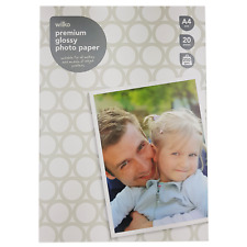 Printer Photo Paper A4 Wilko Glossy Inkjet Premium High Quality 250gsm 20 Sheets