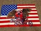 Harley Tapestry, 1970s Wall Art, N.O.S. Mint Chopper David Mann Skull Super Rare