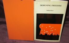 Designing Freedom ~ Stafford Beer. Massey Lectures  HbDj John Wiley 1974 in MELB