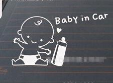 BABY IN CAR CUTE LITTLE BOY CAR WINDOW VINYL STICKER