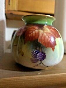 Royal Worcester  Hadley Autum Design with Blackberries Vase Pristine Condition