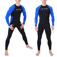 Mens Wetsuit Full Body Suit Super Stretch Diving Suit Swim Surf Snorkeling S~3XL