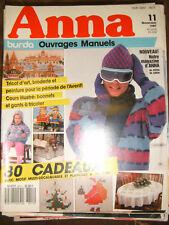 Anna Burda Ouvrages Manuels N°11 1987 Bonnet et gant tricot Broderie Noël Patron