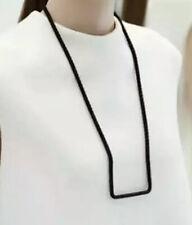 COS Geometric Rope Black Stylish elegantly understated Scandi  Necklace NEW 💕