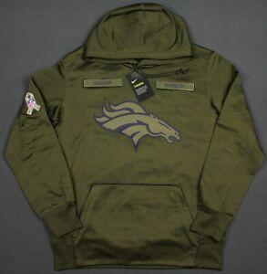 New Denver Broncos Nike 2018 NFL Salute To Service Hoodie Sweatshirt Medium