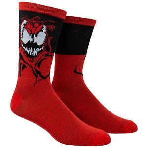 Spider-Man Venom Maximum Carnage Crew Socks Red