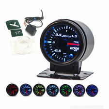 "2"" 52mm Universal Auto Car Smoke Len LED Bar Turbo Boost Gauge 7 Color LED"