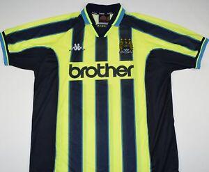 1998-1999 MANCHESTER CITY KAPPA AWAY FOOTBALL SHIRT (SIZE XXL)