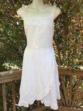 New_Boho Peasant Cotton Ruffle Lace Trim Dress_Sizes S, M, L_Beautiful!
