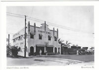 "*Postcard-""The Chrest's Grill & Hotel"" -1927- @ Hollywood, Florida (A103-1)"