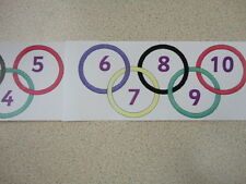 Teaching Resources - Number Line Display 0 to 100 - Olympic Rings - Count in 5's