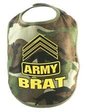 """Army Brat"" Camouflage Military Baby Bib"