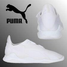 17279f0cb8b1 PUMA Evolution Mostro Mens Boys Triple White Sneakers Retro Sports Trainers