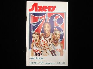 1975-76 Philadelphia 76ers Basketball Yearbook
