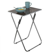 Multi-Purpose Dark Wood Foldable Table, Brown
