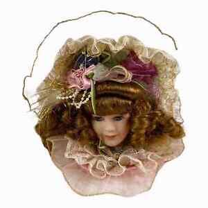 Dandee Porcelain Victorian Doll Head Tree Ornament