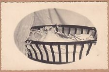 Vintage Post-Mortem RPPC/Photo Of Baby In Crib - Flowers - Mourning - Funeral