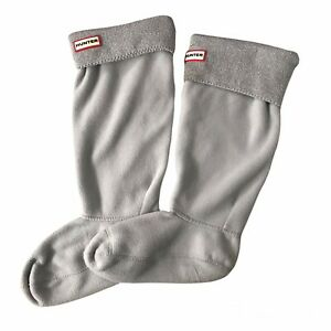 Hunter Tall Boot Socks Original Size Large 8-10 Gray Silver Metallic Cuff